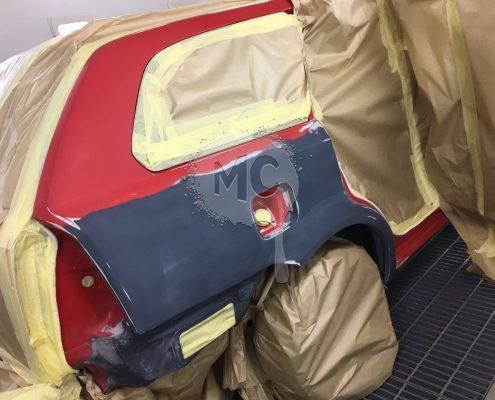 ремонт правой части ниши запасного колеса