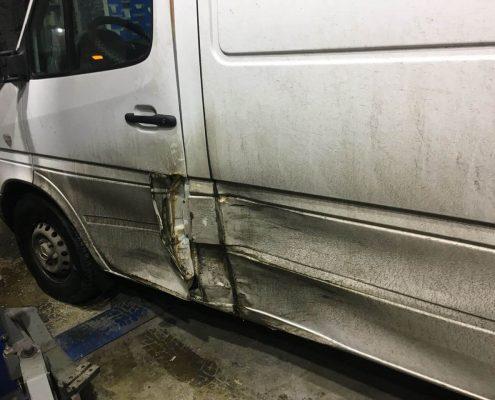 Кузовной ремонт левой части авто