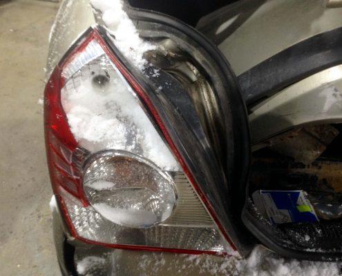 Замена фонаря авто