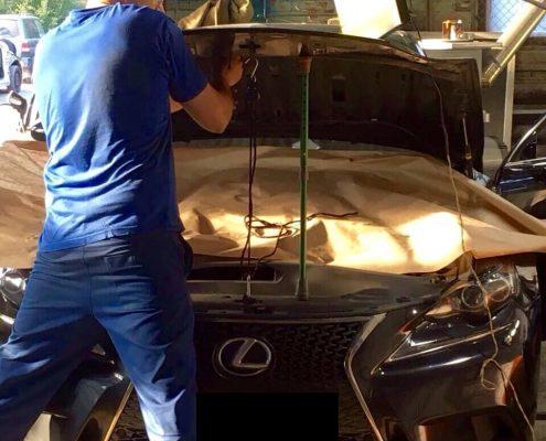 Устранение вмятины Lexus